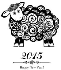 新年羊年快乐创意图标矢量素材下载