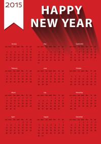 红色2015日历设计矢量素材下载