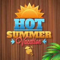 火热夏季标题图标矢量素材下载
