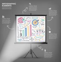 创意数据分析黑板矢量素材下载