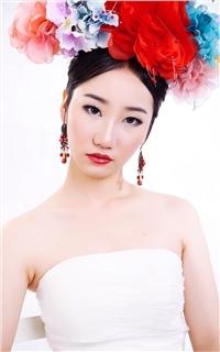 白裙古典美女高清手机壁纸