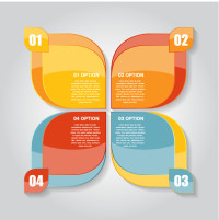 蝴蝶形状分类图表矢量素材下载