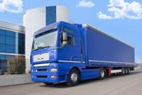 蓝色大卡车高清图片下载