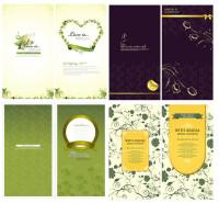 浪漫卡片封面设计矢量素材下载
