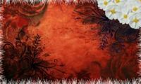 红色欧式藤条植物底纹背景高清图片下载