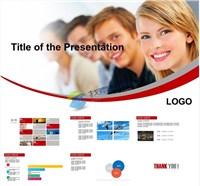 商业人物成功人士服务指南ppt模板免费下载