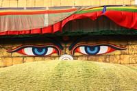 创意眼睛墙壁高清图片下载