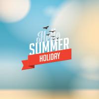 夏季主题背景矢量素材下载