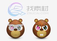 可爱小熊桌面图标下载