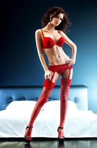 性感红色蕾丝美女高清图片下载