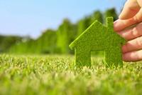 绿色家居小房子草地高清图片下载