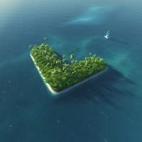 创意海中箭头形状小岛高清图片下载