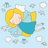 可爱卡通小女孩天使矢量素材下载