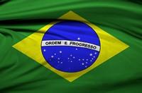 飘动的巴西国旗背景素材高清图片下载