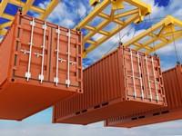码头集装箱龙门吊货物高清图片下载