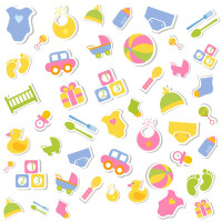 卡通儿童玩具图标矢量素材下载