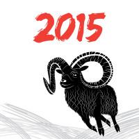 2015年黑色山羊图标矢量素材下载