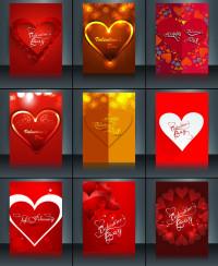 甜蜜爱情爱心封面设计矢量素材下载