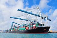 庞大壮观集装箱运输船高清图片下载