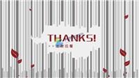 动态谢谢观看片尾动画ppt模板免费下载