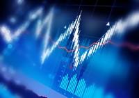 股市走势图数据蓝色背景高清图片下载