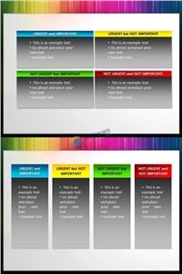 精美四色PPT文本框ppt模板免费下载