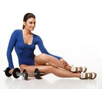哑铃与健身健美女子高清图片下载