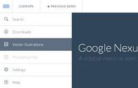 谷歌NEXUS网站菜单