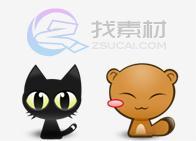 超可爱动漫猫图标