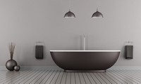 创意精致黑色浴缸高清图片下载