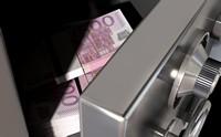 保险柜中的百元欧元高清图片下载