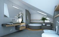 宽敞时尚舒适浴室高清图片下载