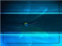 蓝色科技光带ppt模板大全
