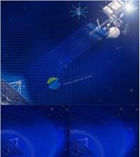 太空科技通信卫星ppt素材免费下载