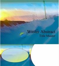 冬季抽象艺术ppt背景ppt素材免费下载