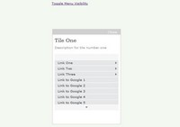 jQuery菜单切换特效插件jGlideMenu