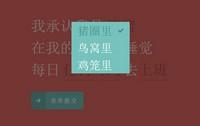 html5单选框表单提交代码