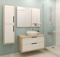 宽敞舒适浴室高清图片下载