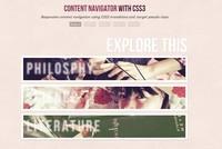 CSS3图片导航效果