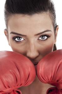 超酷拳击手套运动女子高清图片下载