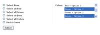 jquery按关键词多选列表框选项