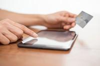 平板电脑与银行卡高清图片下载