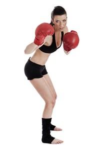 美女拳击选手进攻姿势高清图片下载