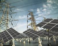 太阳能发电站电池板高清图片下载