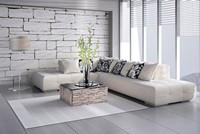 豪华白色沙发宽敞客厅高清图片下载