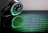 屏幕上的复杂数据与密码锁高清图片下载