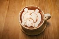 小熊图案咖啡杯高清图片下载