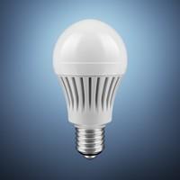 白色LED灯泡特写高清图片下载