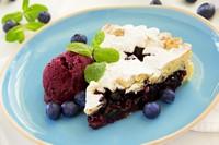 美味可口蓝莓蛋糕高清图片下载