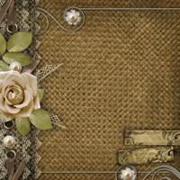 花朵边框复古背景高清图片下载
